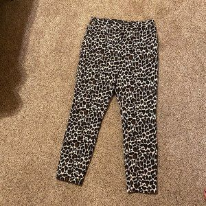 Topshop Cheetah Print Pants